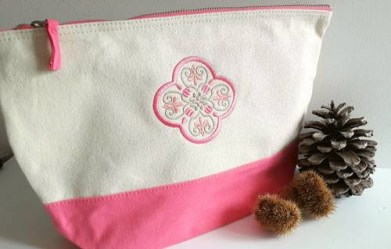 trousse bicolore rose